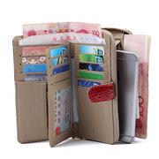 Véritable cuir élégant multi-slots porte-monnaie titulaire de la carte pour les femmes