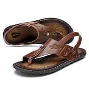 Large Size Men Two Way Wearing Comfortable Cool Beach Sandals