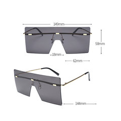 Women and Man Square Glasses Fashion Solid Color Gradient Transparent Sunglasses
