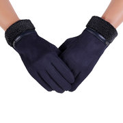 Men Warm Windproof Touch Screen Fleece Thickening Cycling Gloves Full Finger Outdoor Ski Glove