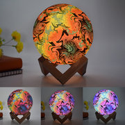 New 3D Printing Moon Lamp Christmas Decorations Space LED Night Light Remote Control USB Rechargeable Gift