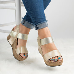 Band Strap Slip On Platform Sandals