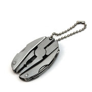 Stainless Steel Multi Function Round Folding Multi Pliers Tools Set Mini Pocket Knife with Keychain