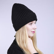 Womens gestrickte Twist Curling Bucket Beanie Cap Soft Mode Schnee Hüte Winter Warme Outdoor Caps