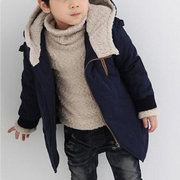 Hooded With Velvet Thickening Lamb Children Cotton-padded Jacket