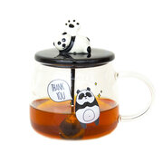 Ceramic Coffee Mug Lovely Cute Panda Pattern Unique Water Cup With Spoon and Lid