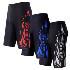 Summer Swimming Beach Shorts Printing Quick-drying Low Waist Long Trunk for Men