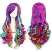 Lolita Cosplay Partei-Perücke-reizvolle Frauen lange Steigung-Farben-Haar-Perücke-Kostüm-Perücke Frauen