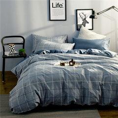 100% ropa de cama de algodón Funda de edredón Funda nórdica Fundas de almohada de hoja plana 4pcs / set Queen King Size