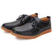 Большой размер мужские повседневные туфли однотонные плоские оксфорды