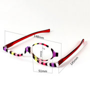 Colorful Readers Magnifying Eye Makeup Glasses Folding Cosmetic Womens Reading Glasses