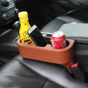 Leather Car Seat Slot Compartment Cup Holder