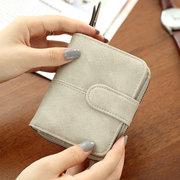 Portefeuille court en cuir PU pour femme, petit sac