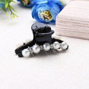 Fashion Rhinestone Acylic White Pearl Hair Accessories Ladies Jewelry Hair Clip for Women