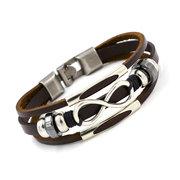 Модный многослойный браслет с бесконечным узлом для мужчин