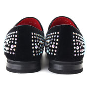 Hommes robe strass bout pointu chaussures habillées