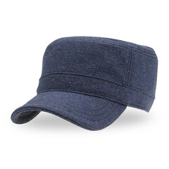 Women Solid Color Warm Cotton Military Hat Outdoor Leisure Sunscreen Baseball Cap