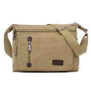 Messenger bag in tela con zip