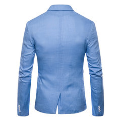 Blazer solidi casual slim fit per uomo