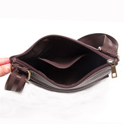 Men Vintage Multi-pockets Genuine Leather Shoulder Bag Crossbody Bags