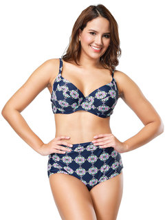 Plus Size Push Up Print Bikinis High Waist Backless Sexy Women Swimsuits By Newchic