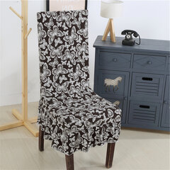 Elastic Stretch Chair Seat Cover With Skirt Hem Dining Room Home Wedding Decor