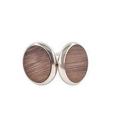 Mens Vogue Exquisite Cufflinks Wooden Metal Drawing Smooth Cufflinks For Bussiness Gifts