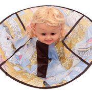 Kids Haircut Cape Robes Apron Vestido de cabeleireiro Impermeável Blue Cloak Barber Salon