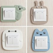 Cute Cartoon Luminous  Silicone Switch Wall Stickers  Bedroom Decorative  Switch Protective Cover