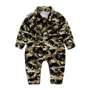 Baby Boy Girls Camo Romper Button manga larga Mono para 0-24M