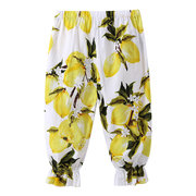 Soft Cotton Fruit Printing Girl Harem Style Pants For 2Y-9Y