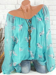 Casual Printed Long Sleeve Shirt for Women