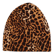 Women Winter Beanie Hat Cap Leopard Hat Outdoor Thermal Scarf Beanie Skull Scarf Dual Use