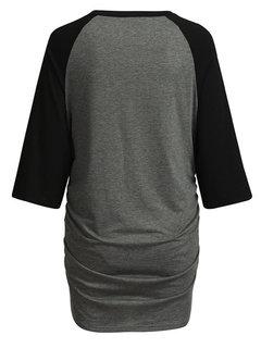 Maternity Рубашка Грудное вскармливание с длинным рукавом