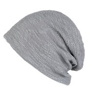 Men Women Cotton Solid Double Layer Soft Lightweight Warm Comfortable Breathable Beanie Hat