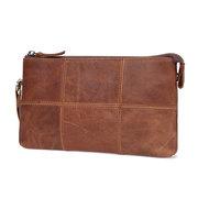 Portefeuille Vintage Casual Leather Phone Bag Pochette pour les hommes
