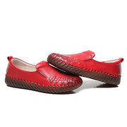 Soft Leather Stitching Flat Shoes