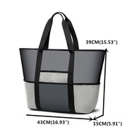 Women Patchwork Hollow Out Travel Wash Bag Storage Bag Outdoor Beach Bag
