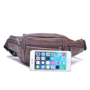 Sac de sac à bandoulière multifonctionnel en cuir véritable Sac à bandoulière multifonctionnel