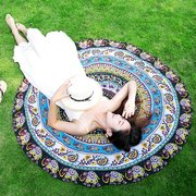 150cm Round Shape Bohemia Style Beach Towel Multifunction Beach Mat Tippet
