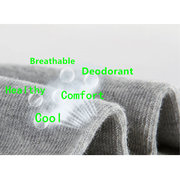 Mens Fall Winter Cotton Solid Color Deodorant Breathable Six Pairs Package Casual Socks