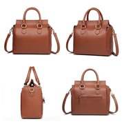 DREAME Women Solid Handbag Multifunction Casual Shoulder Bag
