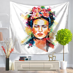 Wall Art Hanging Flowers Frida Kahlo Tapestry Frida Fabric Decoration Wall Hanging Tapestry