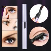 Electric Eyelash Curler Heater Eye Lashes Perm Eyelash Curler Portable Curved Brush Makeup Tool