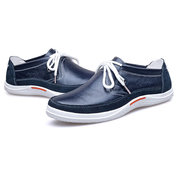 Men Metal Buckle Genuine Leather British Style Sport Casual Boat Shoes