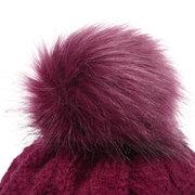 Женское Этнический большой пион Цветочный шарик вязать Шапка Трехмерная вышивка Шапка Повседневный шоппинг Шапка