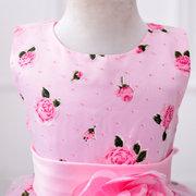 Vestido de princesa sin mangas para niños de Flower Dresses para 3Y-11Y