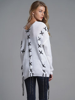 Overlapping Overhead Loose Sweater