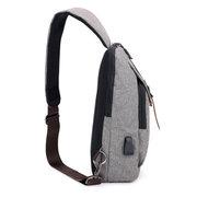 USB Charging Port Business Casual Waterproof Sling Bag Chest Bag Crossbody Bag For Men