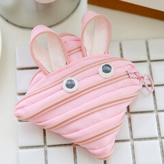 Creative Zip Wallet Card Storage Bag Cute Rabbit Flog Duck Organizer Hangbag